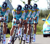 "Astana took 11th place, 1' 45"" down..."