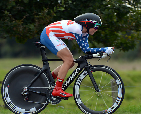Evelyn Stevens took the silver medal today, the American rode at 43.813 kilometres-per-hour but was 34-seconds off the winning time...