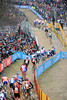 The race is in three clear groups and entertainiong 61,000 spectators..!