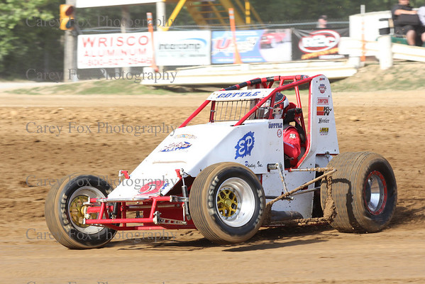 June 14, 2012 - Thursday Night Sprints and Modifieds (Midget Week)