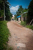 Top of the street where we lived in Sihanoukville