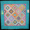 Judge's Recognition<br /> Log Cabin in Batiks<br /> Janet McKinney