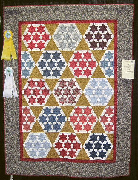 Best Hand Quilting<br /> Honorable Mention<br /> Oh Sister, Where Art Thou?<br /> Patty Showen