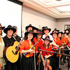 """Saline Fiddlers with WDIV Channel 4's News Anchor Carmen Harlan.  She told the audience that fellow News Anchor Devin Scillion and herself are """"big fans of the Saline Fiddlers""""."""