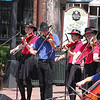 """Saline Fiddlers performing at Colonial Williamsburg, Virginia on Merchants Square Tuesday July 3rd, 2012. Very typical southern hot day. Performance was at 11:00am and it already was 90 degrees at that time. That did not hamper the Saline Fiddlers from wowing yet another large audience on their """"Song of the Southeast"""" Tour. Afterwards the Saline Fiddlers took in the sights, sounds and tastes of Colonial Williamsburg and Merchants Square. It was living American history! Photos credit Kevin Carnahan"""