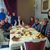 We were whisked from the airport to breakfast -- with local people. We were split into two groups and this is my group, in a Konya home with a delicious breakfast of specialities.