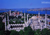 This is a postcard, showing two of the most famous mosques in Istanbul: Hagia Sophia Museum and Sultanahmet Mosque. We visited these and several others.
