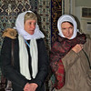 Barbara and Sita, wearing our prayer scarves in a mosque.