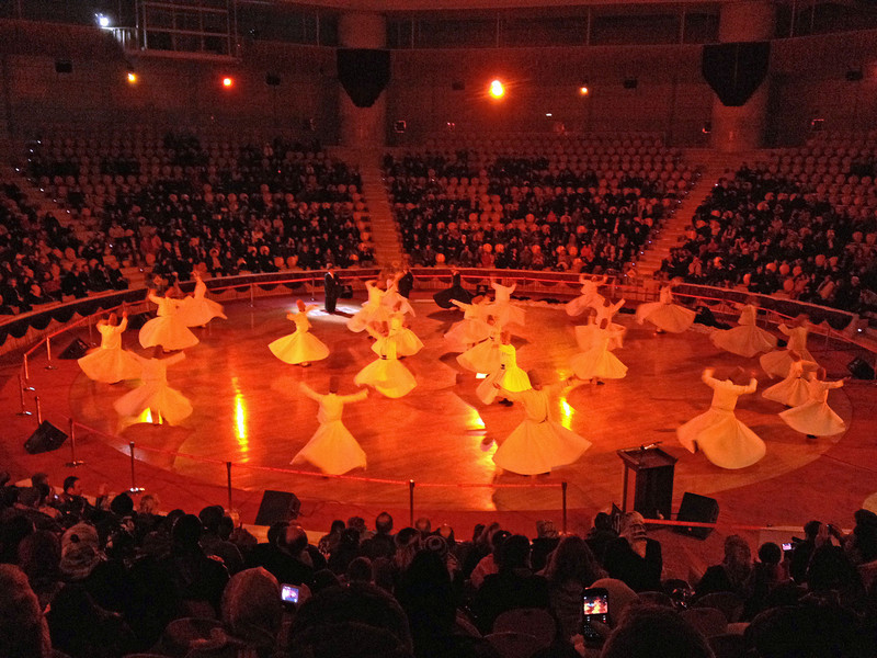 Whirling dervishes performing in Konya. Sufism and whirling dervishes go together, as we learned during the week.