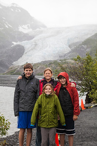 At the Exit Glacier just outside of Seward.