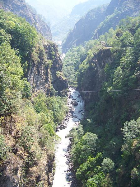 0637 - Scenery From Bundgy Bridge along Araniko Highway in Nepal Between Kodari and Katmandu - Nepal.JPG
