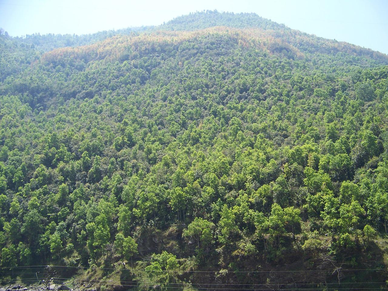 0655 - Scenery along Araniko Highway in Nepal Between Kodari and Katmandu - Nepal.JPG