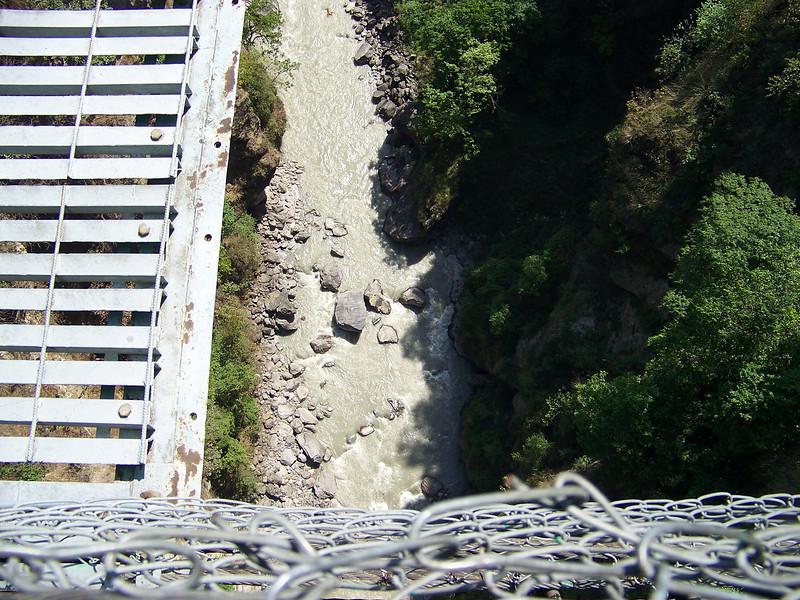 0638 - Scenery From Bundgy Bridge along Araniko Highway in Nepal Between Kodari and Katmandu - Nepal.JPG