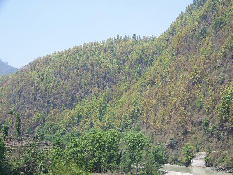 0654 - Scenery along Araniko Highway in Nepal Between Kodari and Katmandu - Nepal.JPG