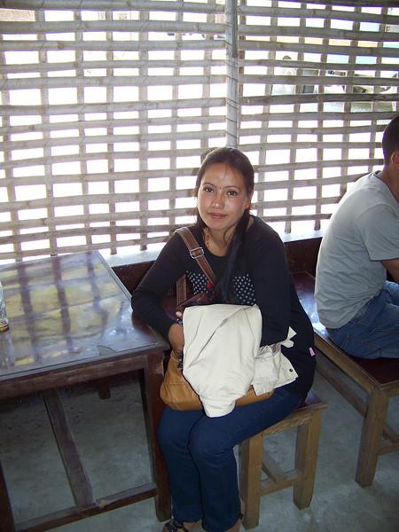 0658 - Local seated inside River View Restaurant overlooking the Bhote Koshi River - Andheri Shidhupalchowk Nepal.JPG