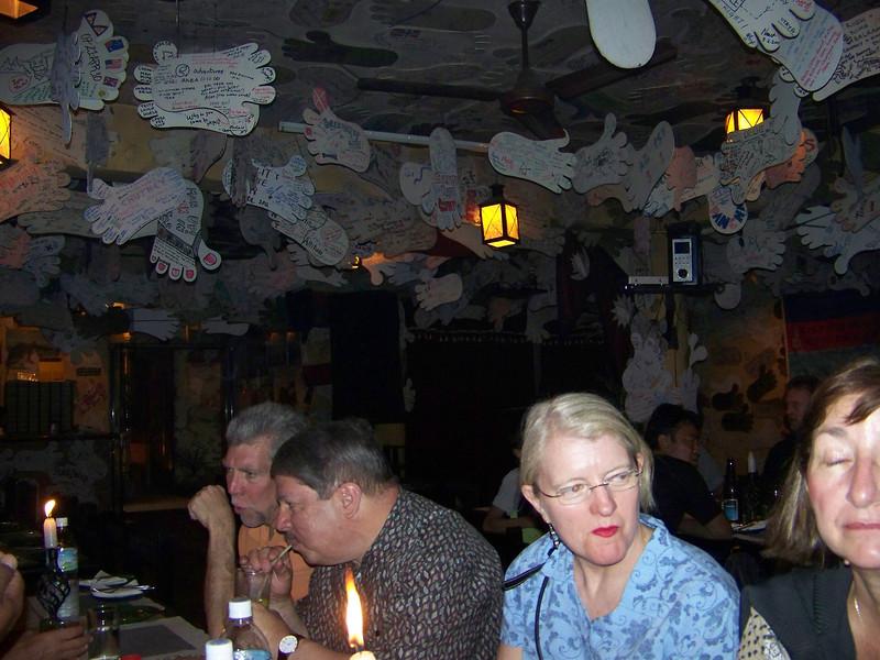 0671 - Scott, Arnold, Sarah, and Beryl at the Table in the Rum Doodle Restaurant - Katmandu Nepal.JPG