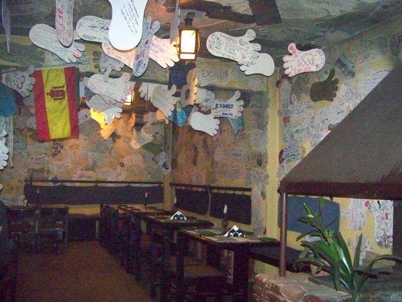 0674 - Inside Walls and Ceiling of Rum Doodle Restaurant - Katmandu Nepal.JPG