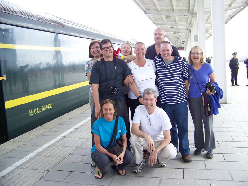 0106 - Our Traveling Group - Possibly Xing Bao Fang Train Station on our Final Morning on Train Trip Between Beijing and Lhasa.JPG
