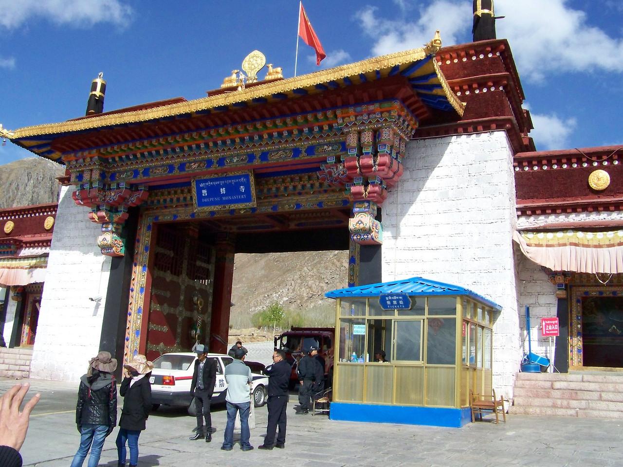0127 - Entrance to Deprung Monastery - Lhasa Tibet.JPG