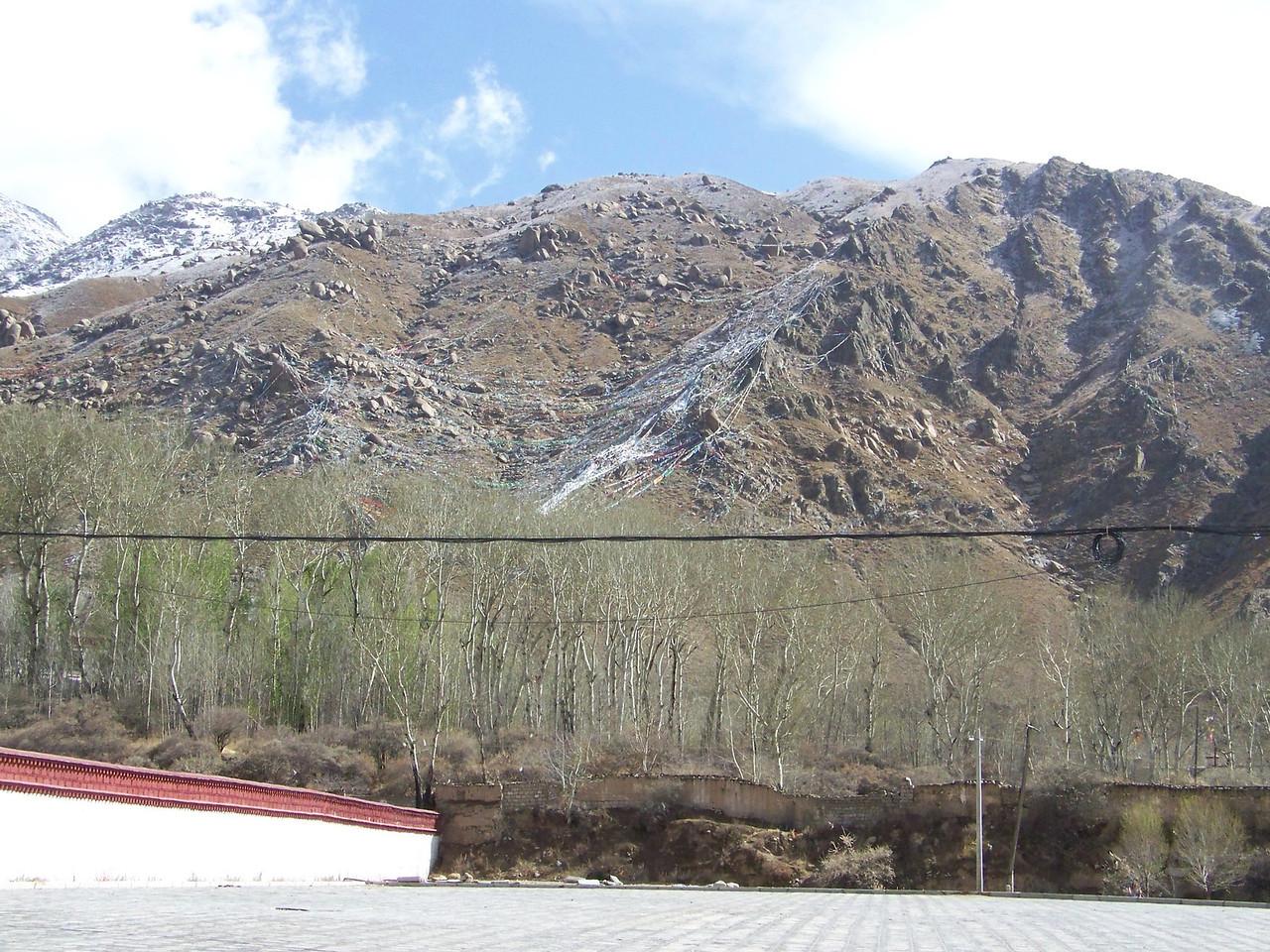 0126 - Prayer Flags on Hillside in Lhasa Tibet.JPG
