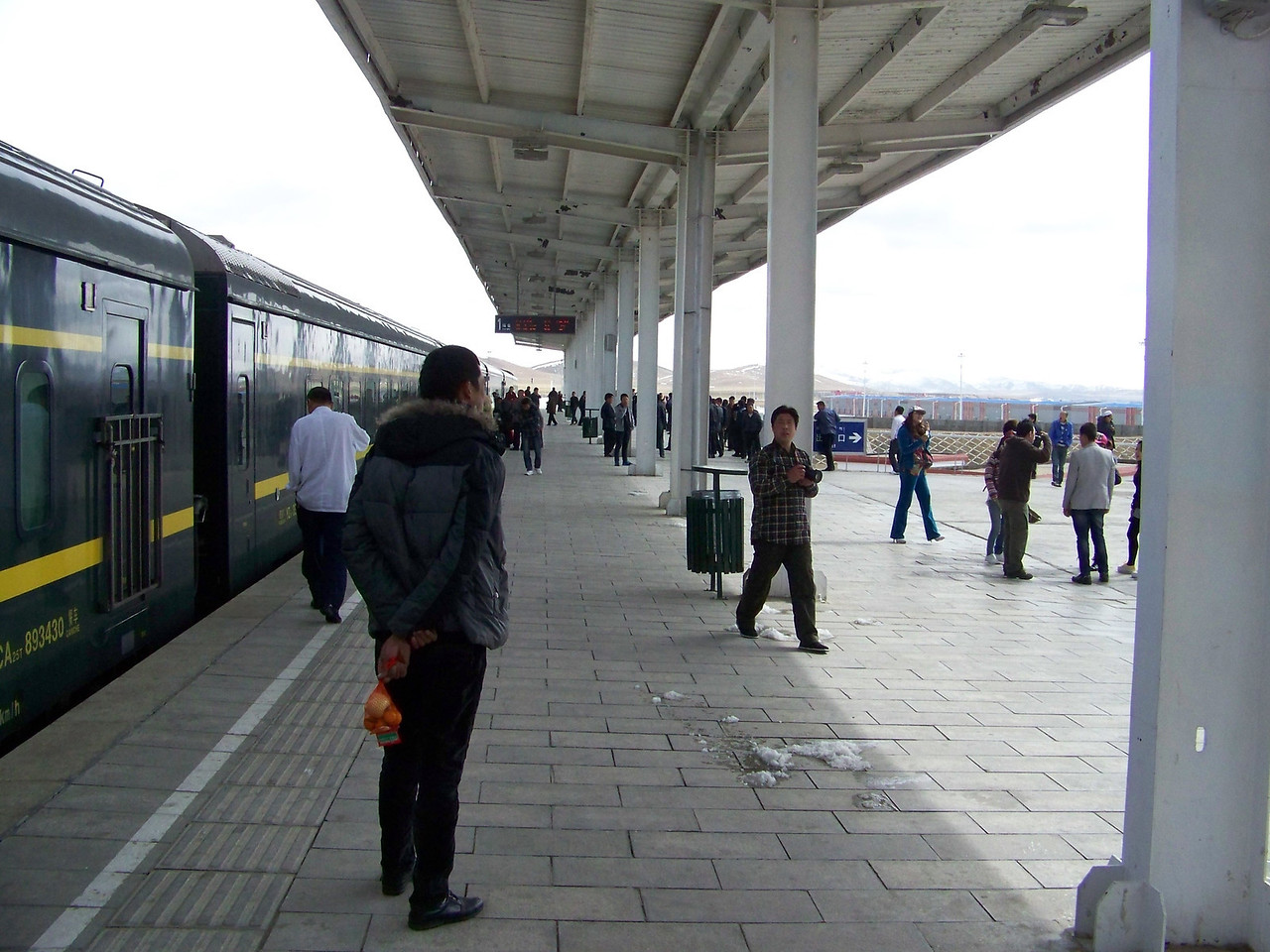 0105 - Possibly Xing Bao Fang Train Station on our Final Morning on Train Trip Between Beijing and Lhasa.JPG