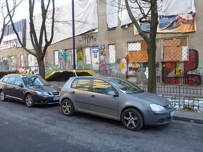 Random graffiti in Warsaw, Poland.