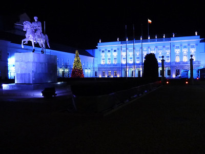 The Presidential Palace on Nowy Swiat in Warsaw, Poland.