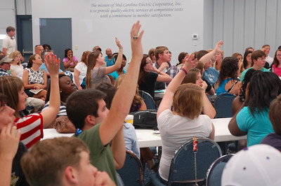 Raise your hand if you're sure.  2012 Youth Tour orientation.
