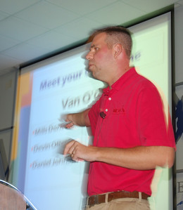 Your fearless leader, Van O'Cain, at the 2012 Youth Tour orientation.