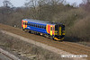 120322-017     East Midlands Trains class 153 no. 153310 is seen approaching North Stafford Junction, near Willington, working 1K06, the 09.07 Crewe - Derby.