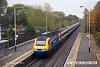 121101-010     A East Midlands Trains HST powered by 43047 & 43044 (nearest), captured heading away from the camera, passing through Spondon with 1C22, the 07.41 Sheffield - London St Pancras.