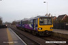 121124-002     Northern Rail pacer unit, class 144 no. 144013 is seen arriving at Shireoaks with 2H03, the 08.03 Sheffield - Cleethorpes.