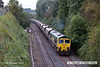 121002-008     Freightliner class 66/5 no. 66530 is seen leaving the 'freight only' line from Ironville junction - Kirkby Lane End Junction & has just restarted it's train after being held for the unit in the previuos image. It was captured powering train 4W59, 08.31 Ratcliffe power station - Thoresby colliery, empty coal hoppers.