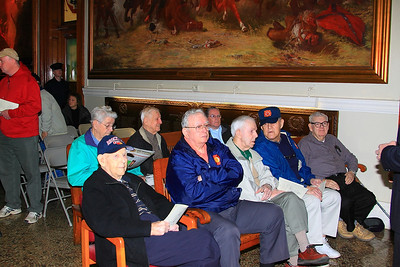 Retirees row, Ed Burrell, Frank Williams Fire Alarm, Capt Russell Gilpatrick, Deputy Chief Ken Gilpatrick, Bob Murray