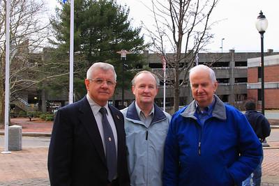 Retired Chief of Department Ken Galligan, Retired Deputy Chief Ken Gustin and Retired Chief of Department James Hallisey