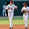 Frisco RoughRiders third baseman Ryan Cordell (20) Frisco RoughRiders shortstop Luis Mendez (2)