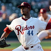 Frisco RoughRiders pitcher Victor Payano (44)
