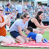 Shane Roper/MiLB<br /> <br /> July 26, 2015 -  Toddler races made up entertainment between one of the innings during the game between Corpus Christi Hooks and the Frisco Roughriders at Dr. Pepper Ballpark in Frisco, Texas.