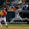 San Antonio Missions left fielder Alberth Martinez (21) Frisco RoughRiders first baseman Trever Adams (29)