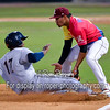 San Antonio Missions first baseman Duanel Jones (17) Frisco RoughRiders third baseman Luis Mendez (2)