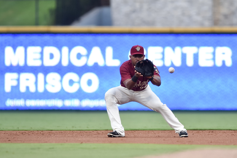 Frisco RoughRiders second baseman Andy Ibanez (24)