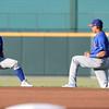 (L) - Midland RockHounds second baseman Franklin Barreto (10),(R)-Midland RockHounds shortstop Yairo Munoz (12)