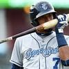 Corpus Christi Hooks right fielder Danry Vasquez (7)