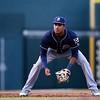 San Antonio Missions third baseman Gabriel Quintana (24)