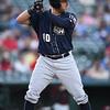 San Antonio Missions third baseman Mike Olt (40)