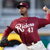 Frisco RoughRiders pitcher Victor Payano (43)