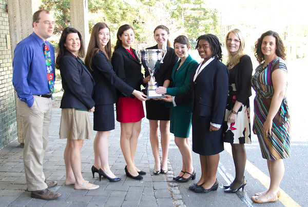 Forensics Team with Trophies