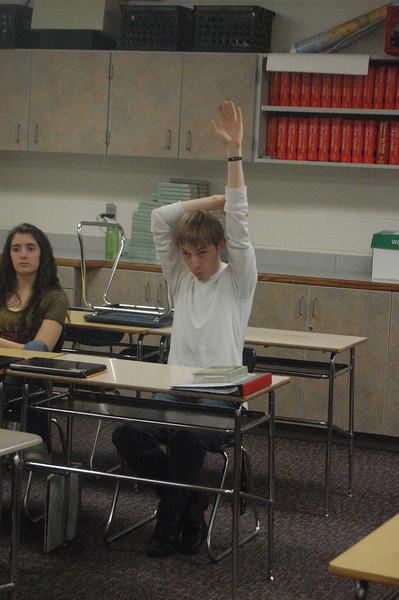 jacob raising his hand