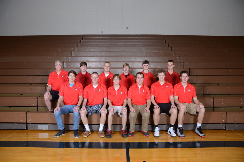 Boys Golf <br /> <br /> Front Row (L to R): Tanner Oelke, Evan Flamme, Colton McCoy, Riley Hunter, Eli Lundak, Jon Moser <br /> <br /> 2nd Row (L to R): Coach Greg Rettele, Erik Fisbeck, Cal Leising, Jackson Kroese, Ben Wolzen, Lane Whipple