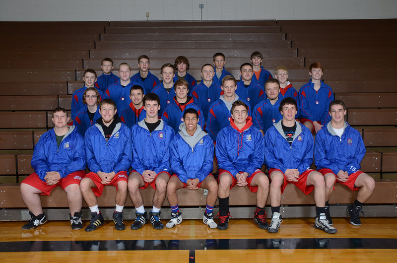 Wrestling<br /> Front Row (L to R): TJ Stajner, Dakota Anderson, Dalton Dwinell, Taylon Lienemann, Evan Fisbeck, Ben Rice, Ryley Lavene<br /> 2nd Row (L to R): Jacob Musil, Dillon Duffield, Codie Kraus, Blaise Eason, Cody Gruising<br /> 3rd Row (L to R): Dominic Jensen, Louis Gray, Jack Casement, Ian Kernes, Hunter Bond, Drew Freehling, Lucas Sullivan<br /> 4th Row (L to R): Blaine Henderson, Dylan Stolzer, Kaleb Woita, Travis Reed, Jacob Anderson<br /> Not Pictured: Austin German, Kaeden Schlake, Skylar Stalcup